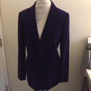 Escada Velvet Deep Purple Blazer